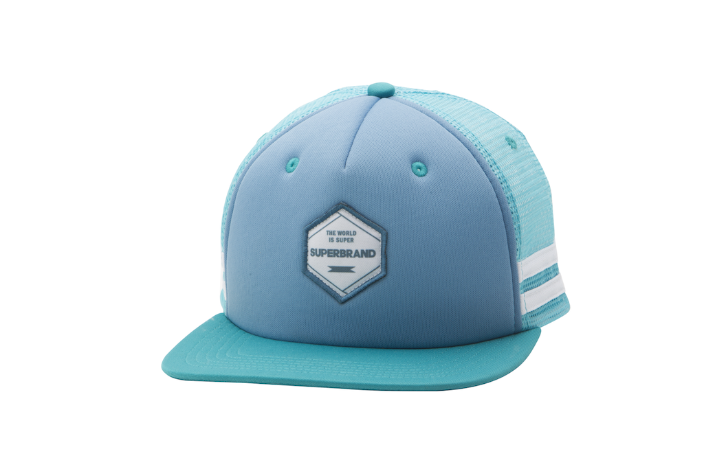 Double Set Trucker Hat - Blue