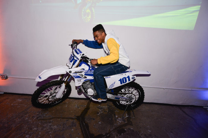 Photo Credit: Peter Pabon - Tyshawn Jones chilling on a dirtbike