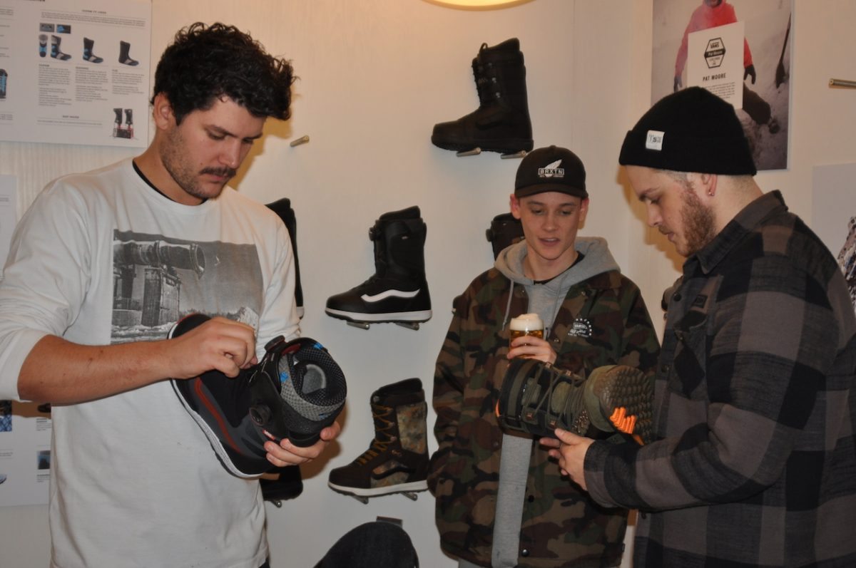 s'No Control (Austria)'s Max Alber, Subvert (UK)'s Jack Isherwood & TSA(UK)'s Tom Clinton getting stuck into Vans boot action