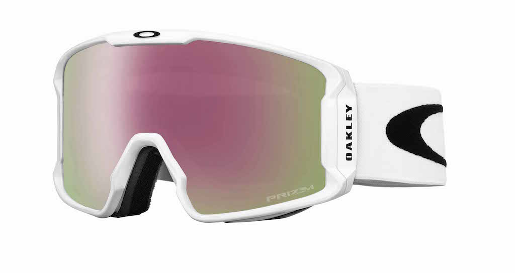 Line Miner Matte White Prizm Hi Pink Iridium Goggles