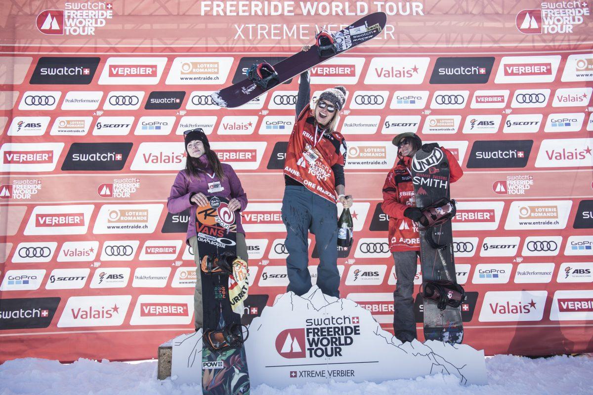 Women's Snowboard Podium - freerideworldtour.com