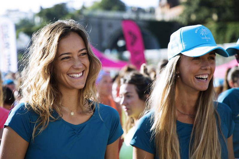ROXY girls Justine Mauvin & Loiola Canales at #ROXYFitness San Sebastian, Spain – Credit ROXY