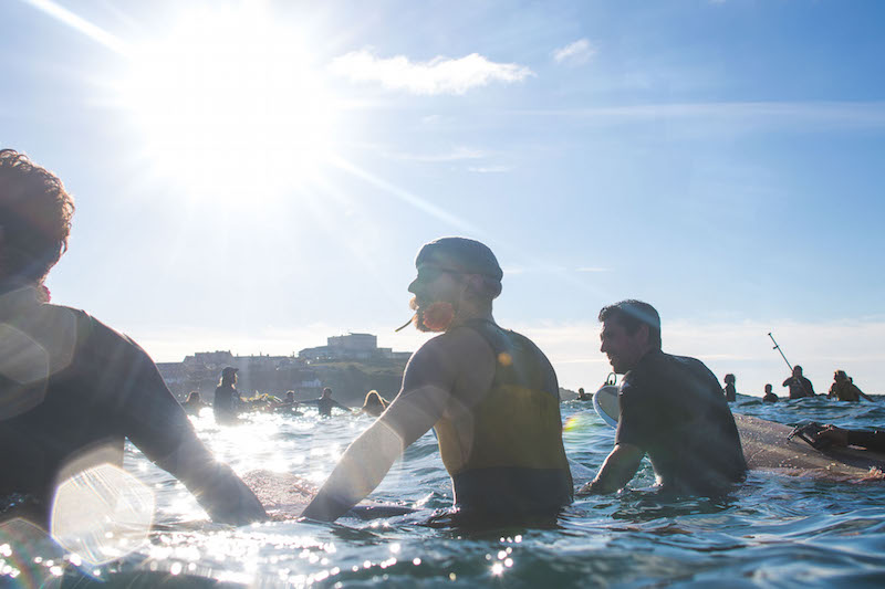 Jack O'Neill Paddle Out Newquay | Photo Credit: Tim Borrow