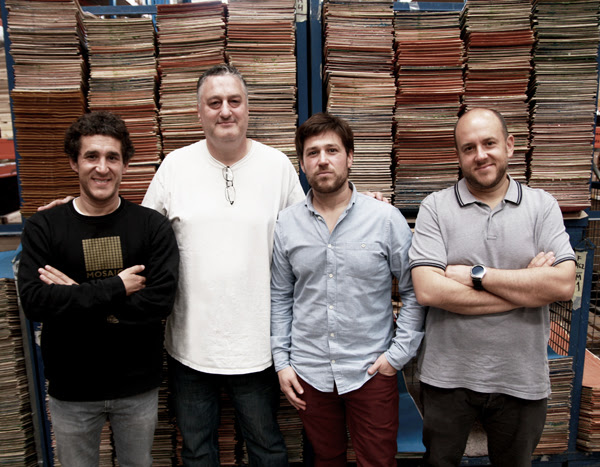 The Iraola brothers, Iban, Ander and Igor, with Jeremy Fox at HLC SB Factory