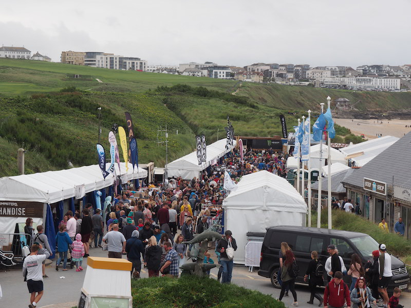 The retail area in Fistral