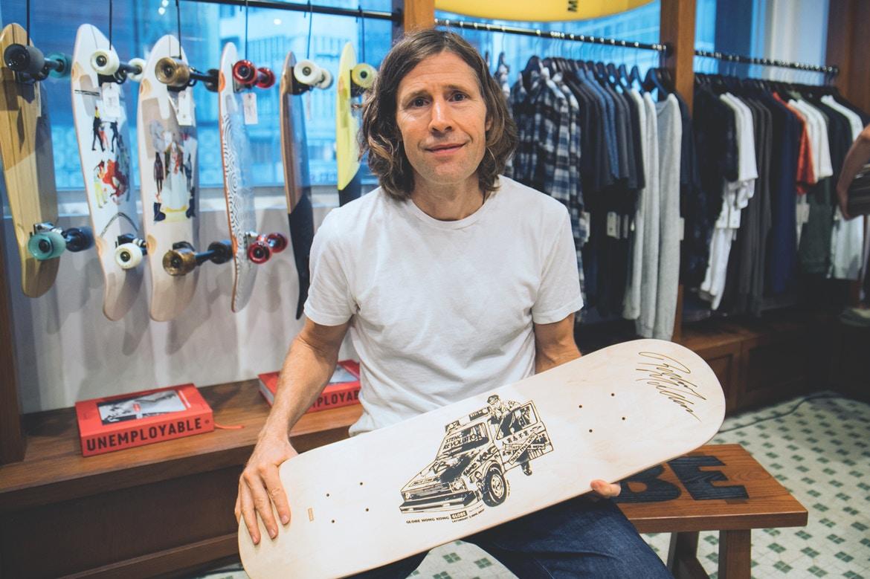Skateboarding legend Rodney Mullen helps open Globe's flagship store in Hong Kong