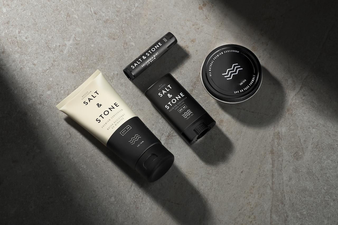 SPF 30 Face Cream, SPF 50 Face Paste, California Mint Lip Balm & SPF 50 Face Stick