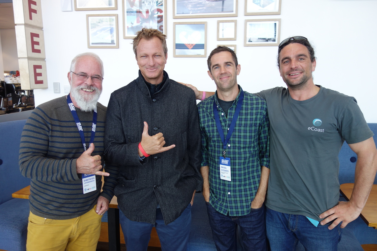 Winveste's Dimitrios Levendakos, Shane Beschen, Oriol Vicente (Kelly Slater Wave Co) & Ed Atkin from eCoast