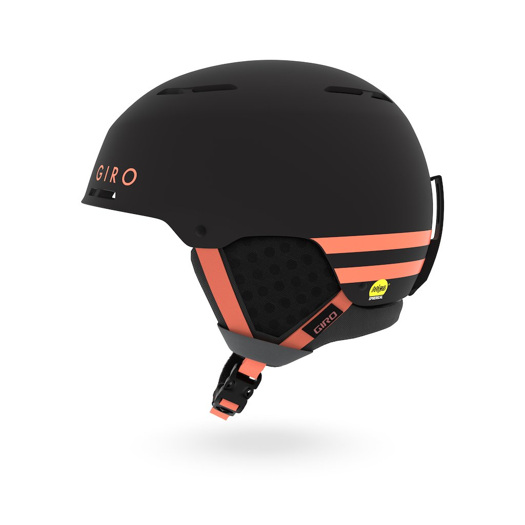 Giro Emerge MIPS in Matte Black with Peach