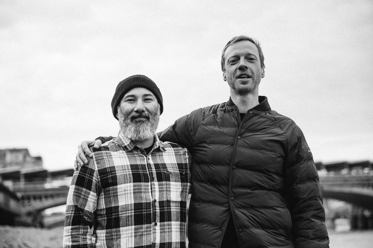 Matt Barr & podcast interviewee and snowboard legend Bryan Iguchi