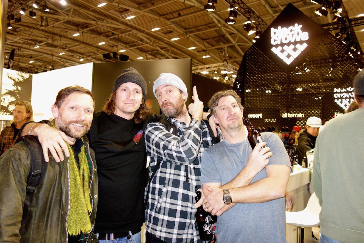 OG snowboard crew - Danny Burrows, Sam Nelson, Tom Copsey & Chriso