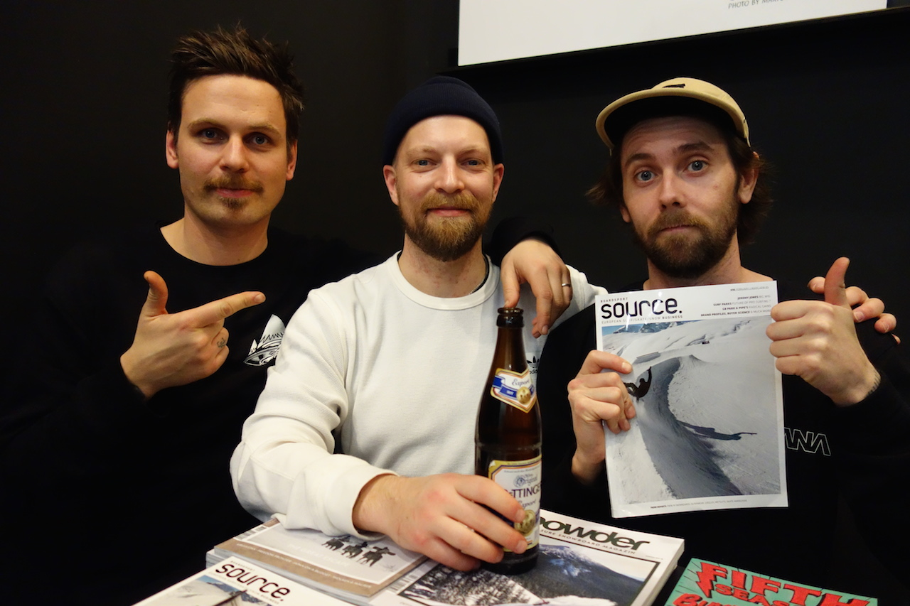 Vimana's Tronna, Surfdome's Tobias and Arne from Session store