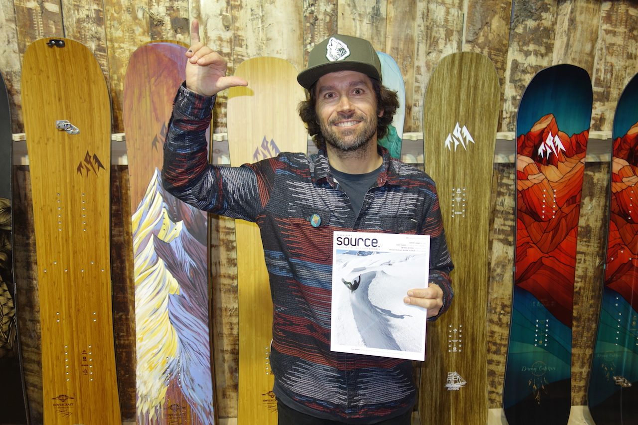 Our boy Jeremy Jones stoked on this issue's Big Wig slot