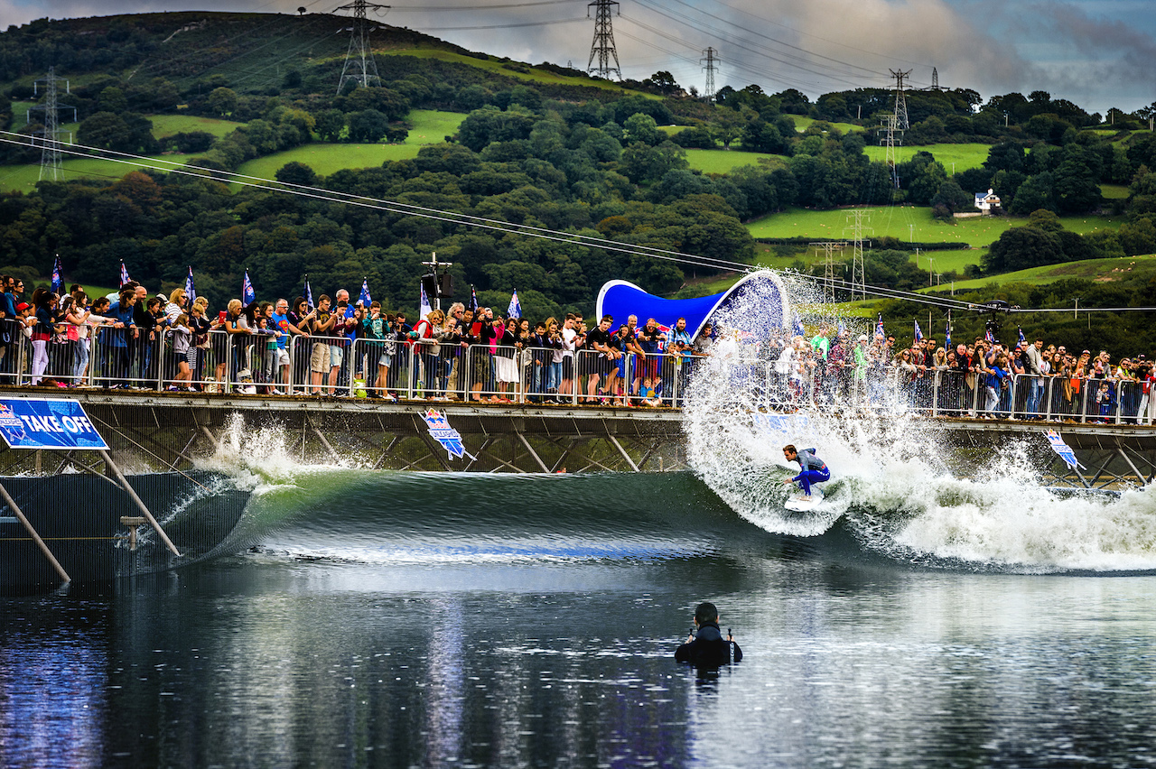 Red Bull Unleashed at Surf Snowdonia. Photo courtesy of Wavegarden.