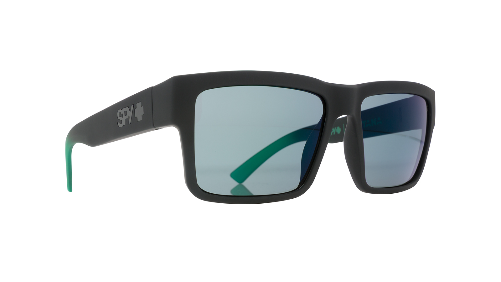 54a444a33c414 SPY MONTANA SOFTMATTEBLACKwGREENFADE HAPPYGRAYGREENwGREENFLASH 673407843695-01