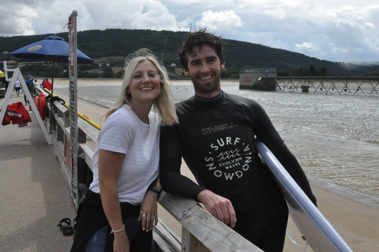 8 Mervin's UK powerhouse, Lauren Lidford and Freeze Pro Shop (Edinburgh)'s Surf Buyer, Mark