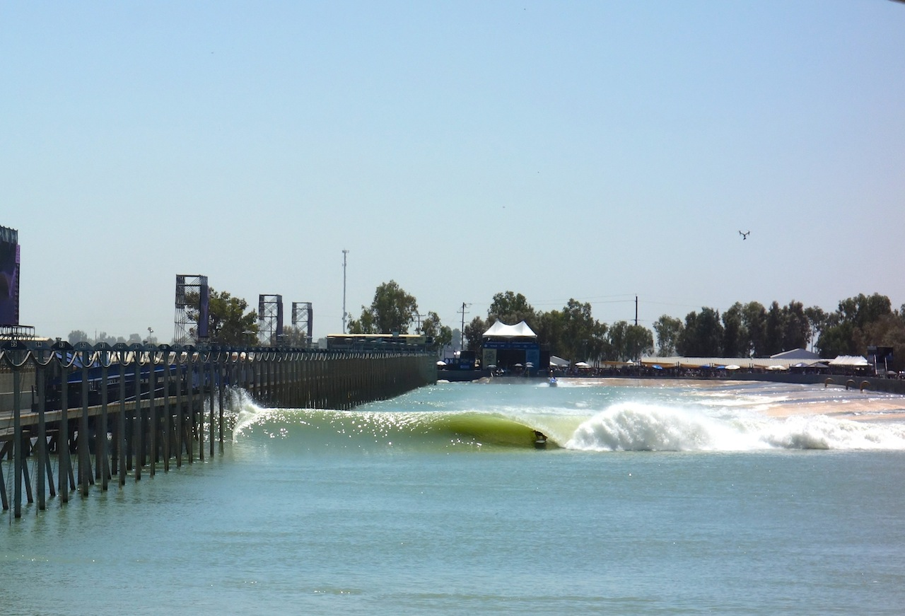 Surf Ranch Pro Event Winner Gabriel Medina slotted. Photo HMT