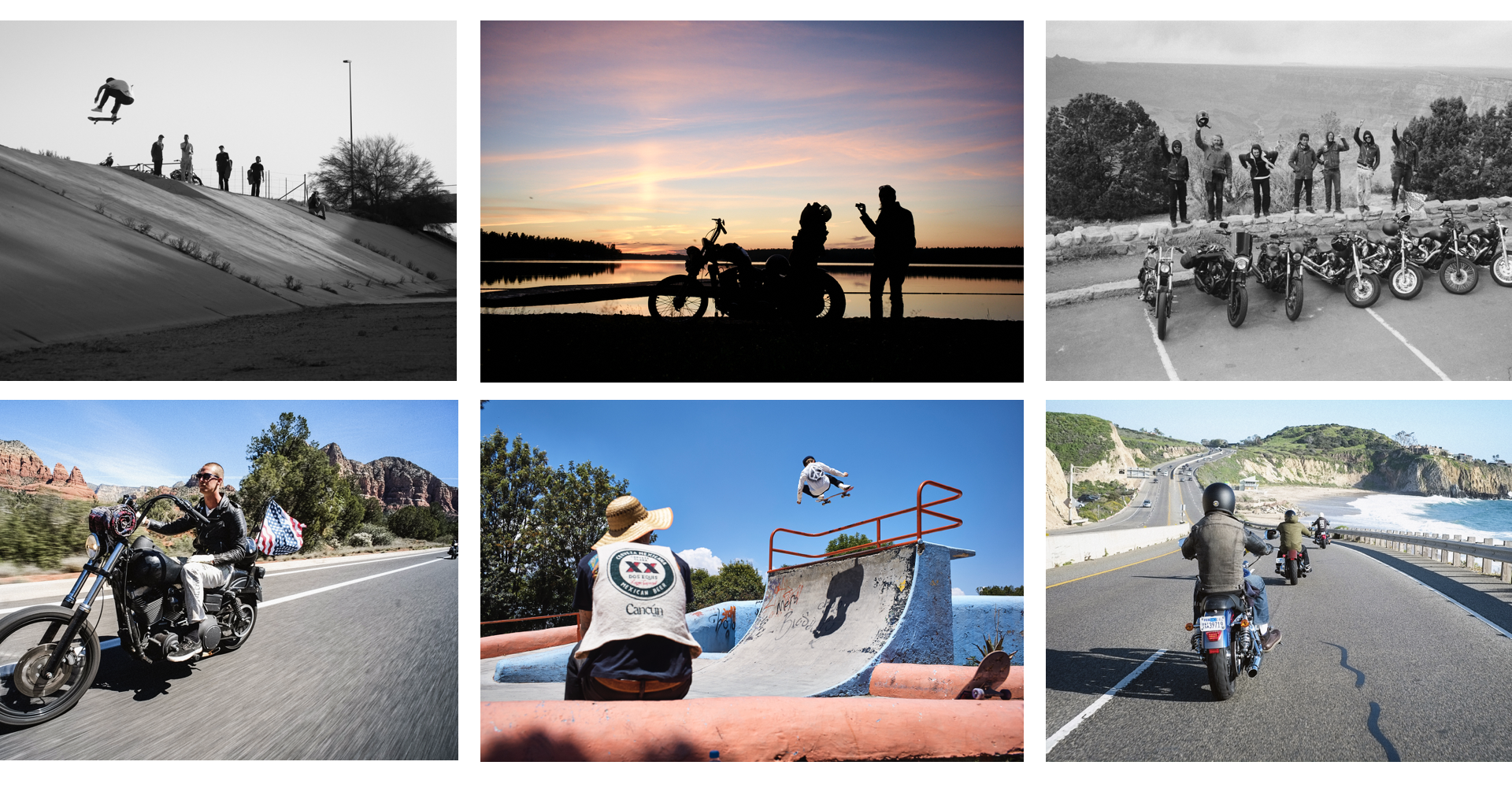 MOTORCYCLING + SKATEBOARDING THROUGH UNITED STATES AND EUROPE