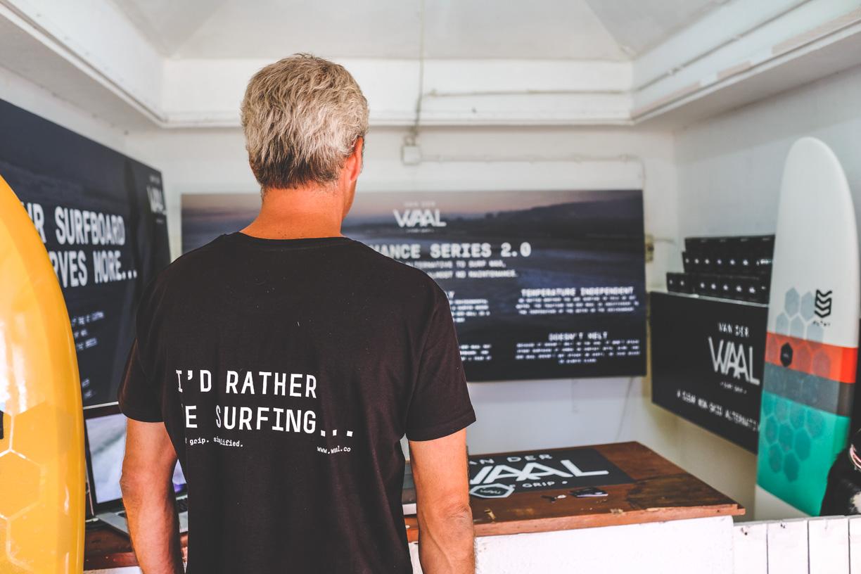 Van der Waal Surfgrip founder Martim Dornellas- he'd rather be surfing ;)
