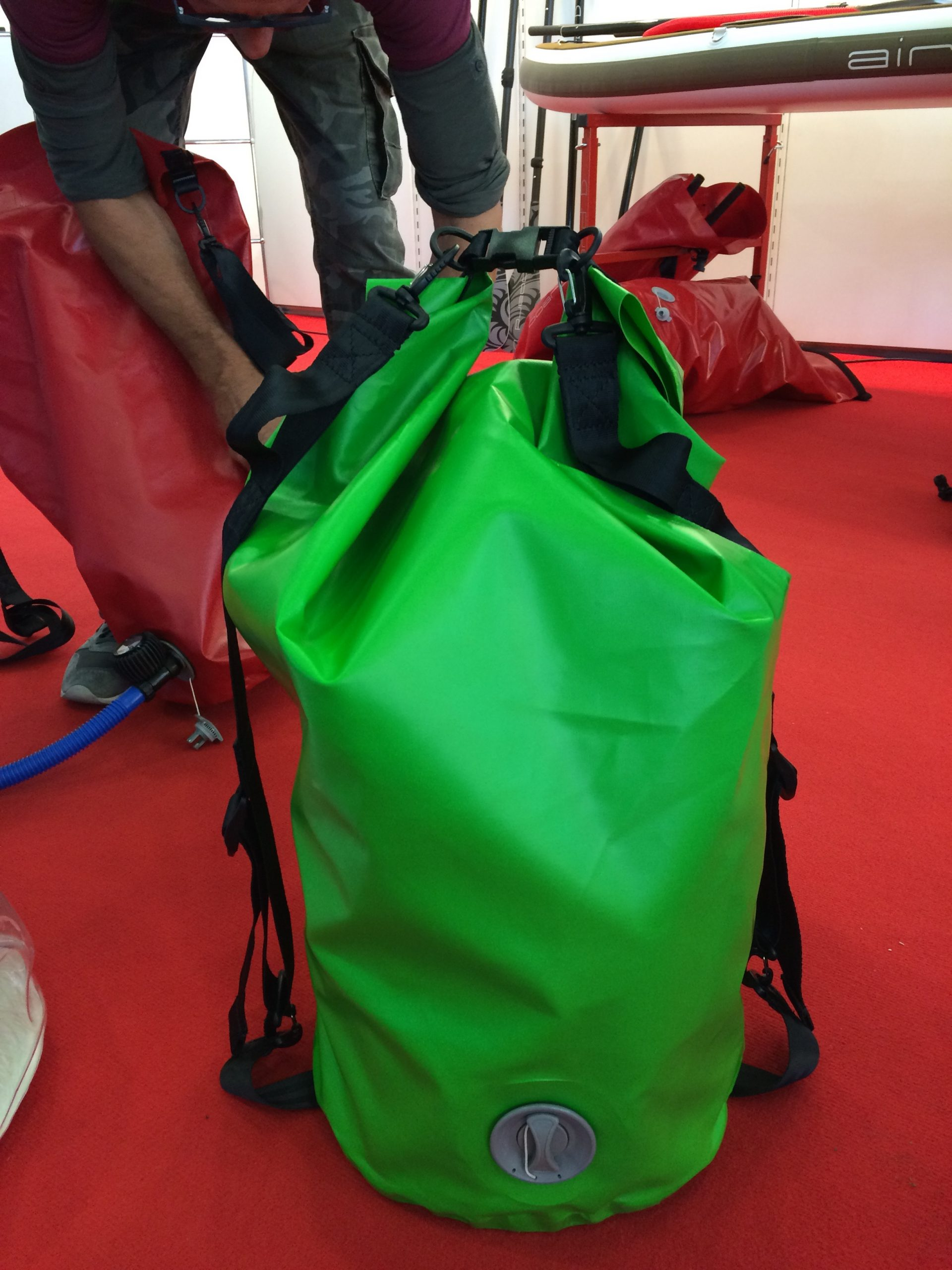 Airboard Bag With Roll Top Pump System Boardsport Source Kendal Tote Green