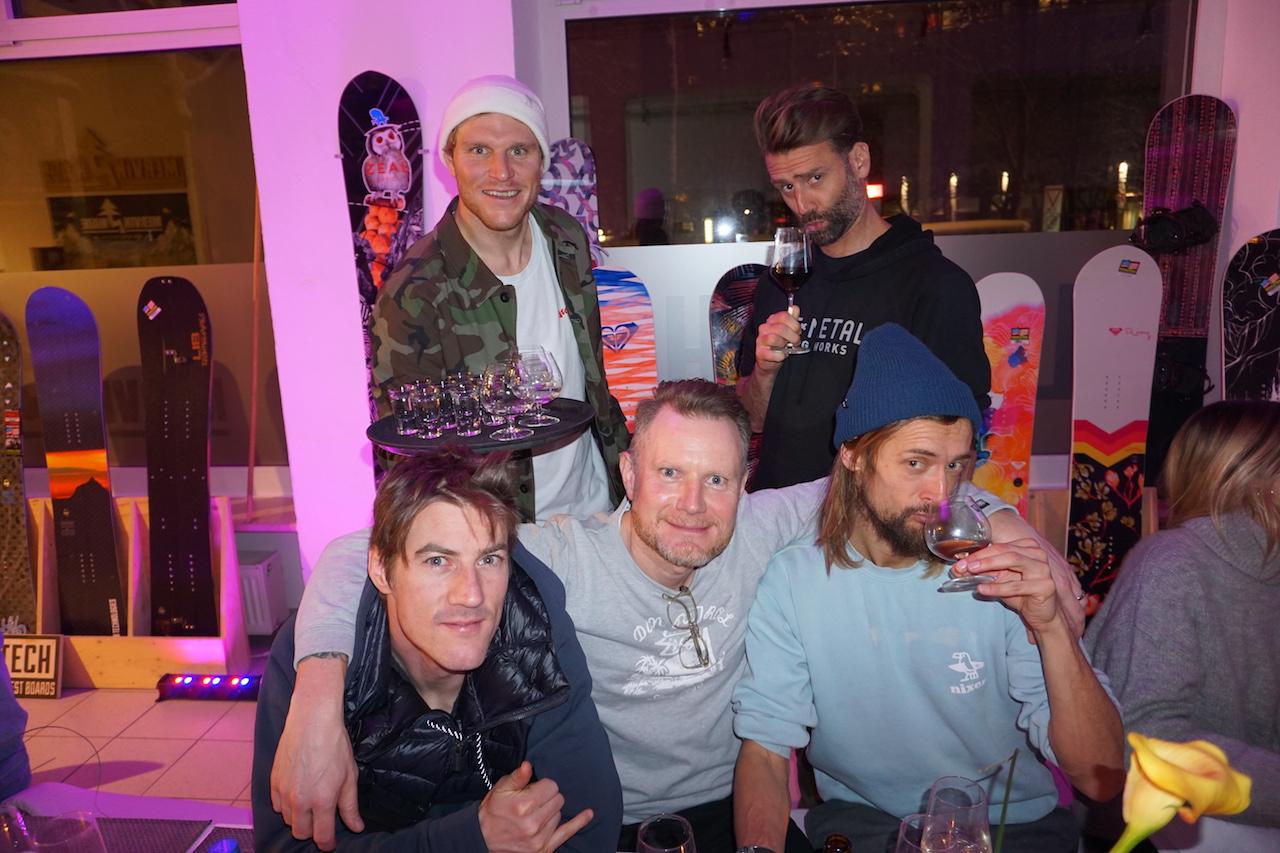 Full Mervin crew. L R Fredi, Hene, Marian, Nicolai and Nicolas