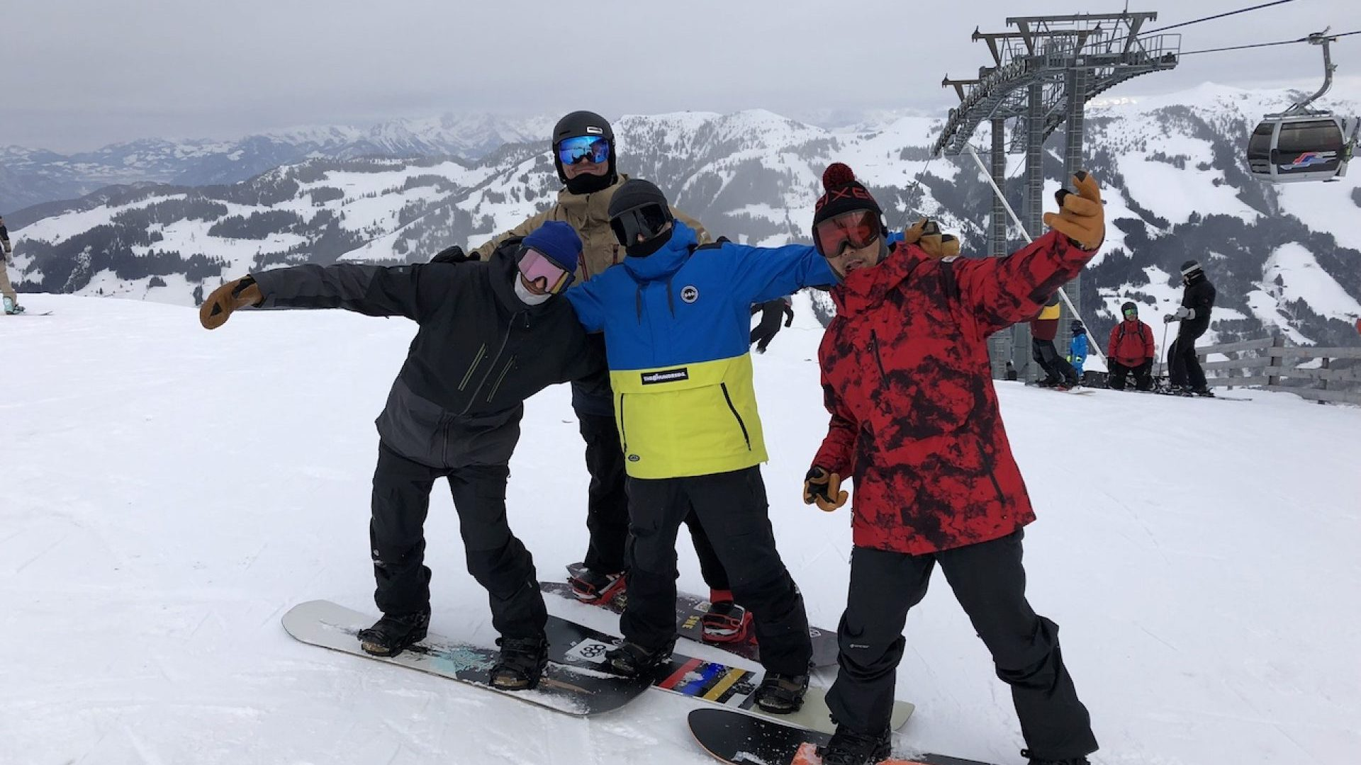 686 boys on the hill. Brent, Stephane, Pacome & Founder, Mike West