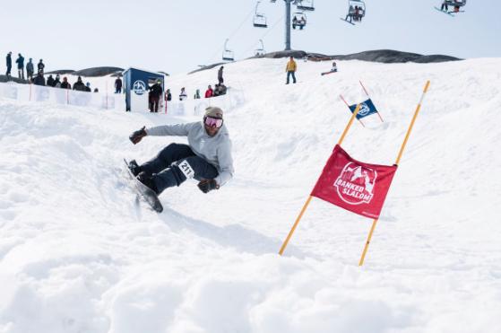 Riksgränsen Banked Slalom