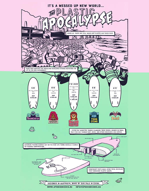 96 spookedkooks surfboards