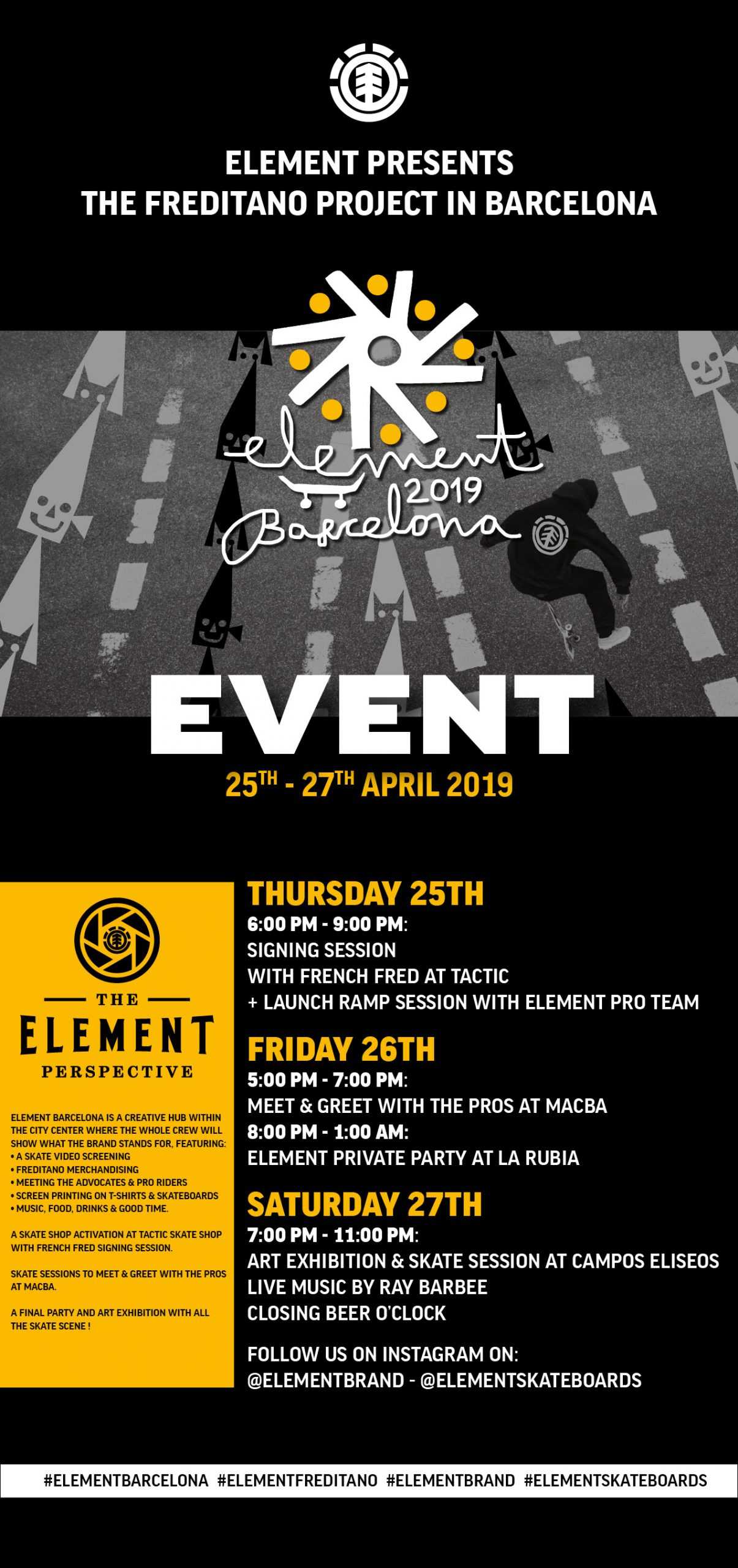ELEMENT BARCELONA featuring the FREDITANO PROJECT