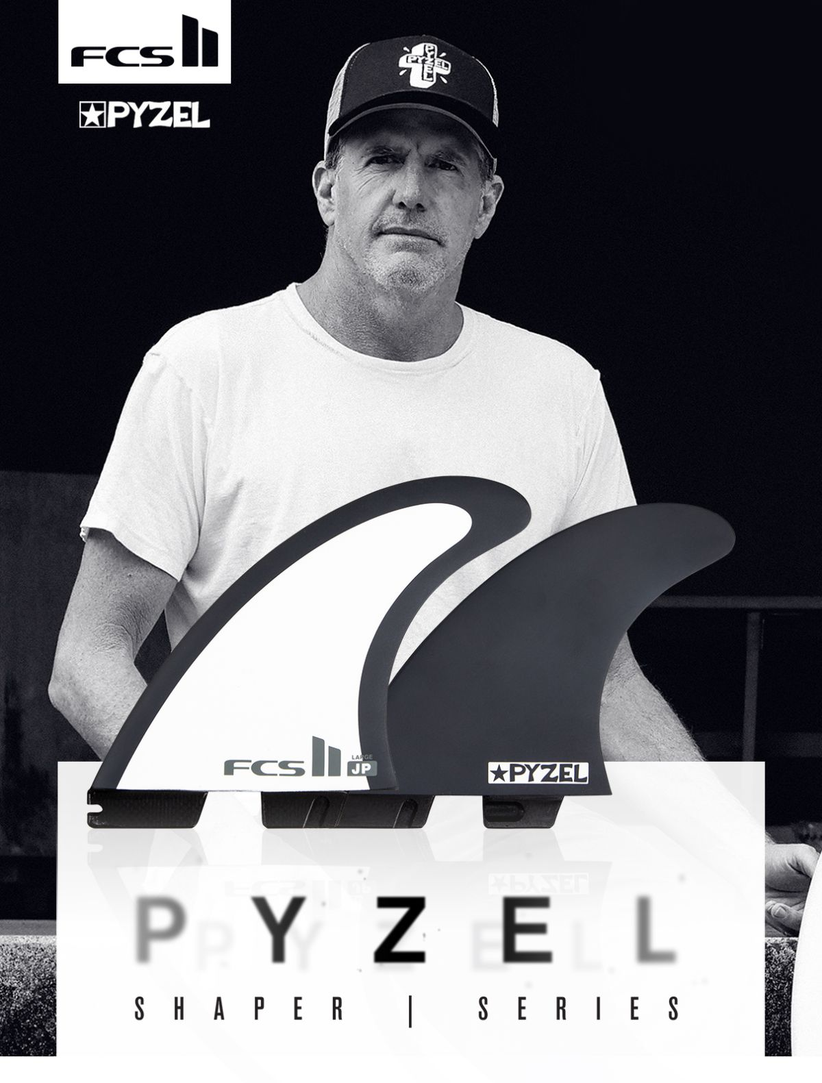 FCS II Jon Pyzel Medium and Large fins