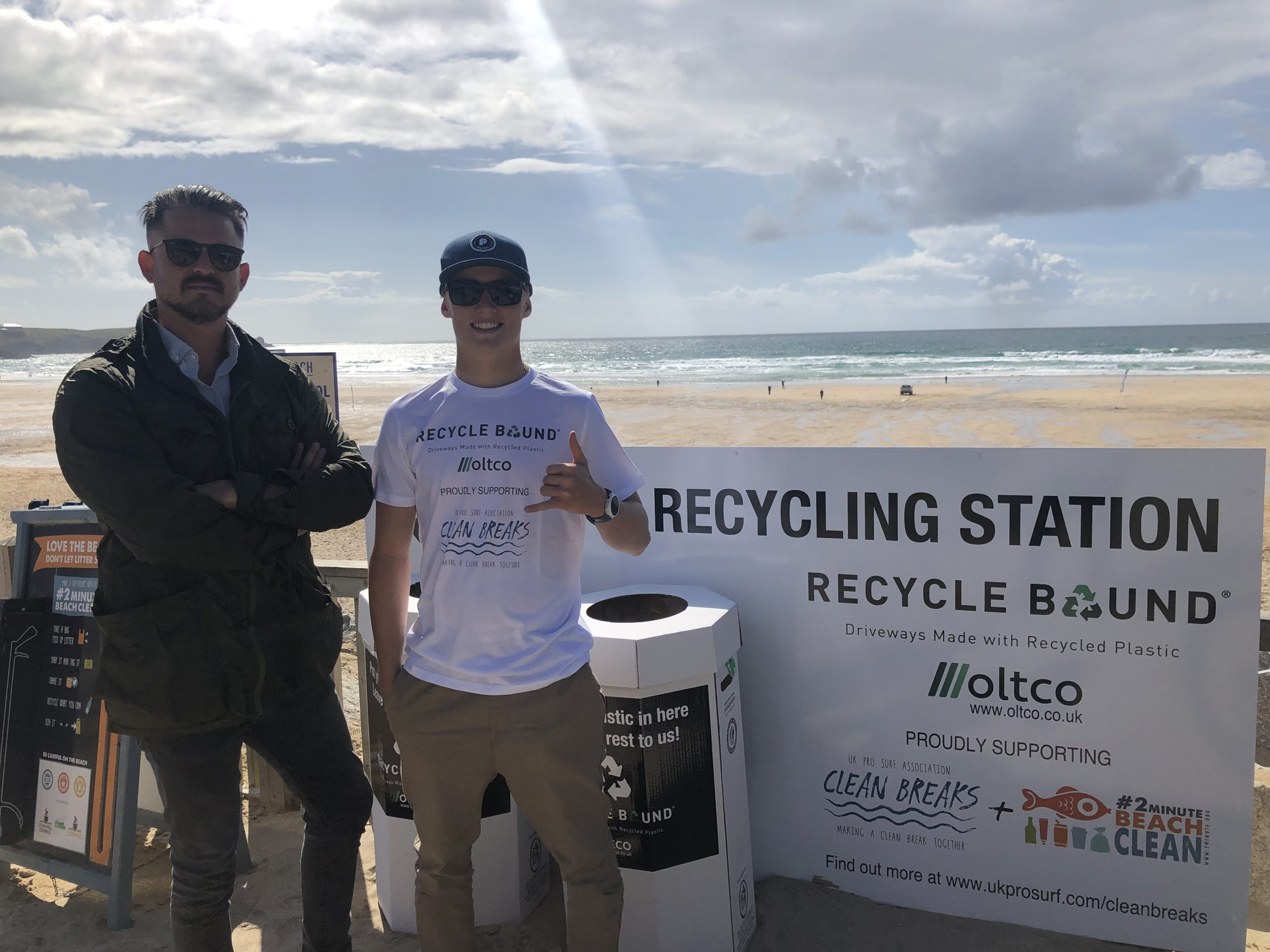 Johnny Pearce and Noah Capps, Recycle Bound Surf Ambassador