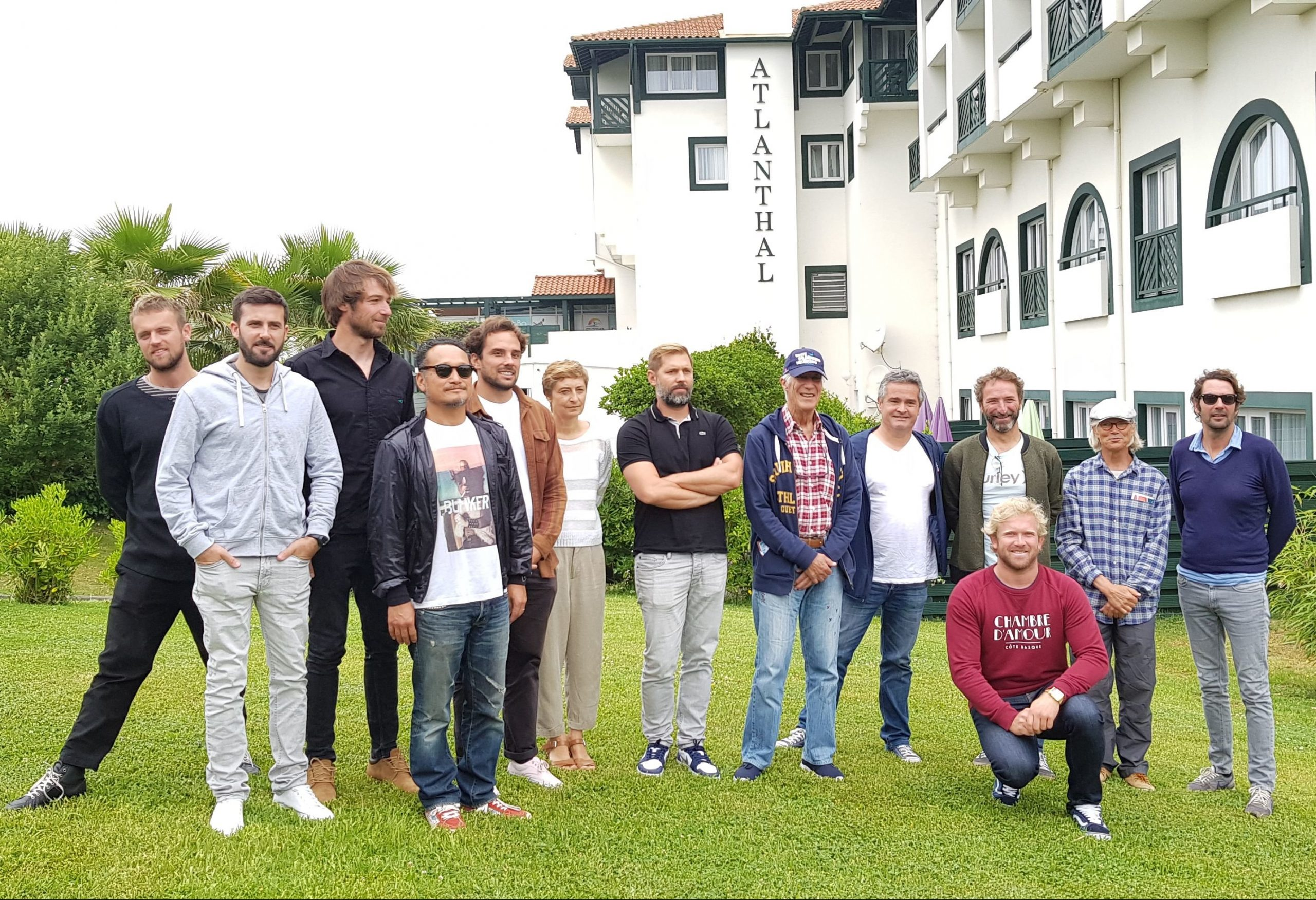 Directors and members of the Jury of the 16th edition of the International Surf Film Festival Anglet, with Bruno Delaye, the Festival Organiser.