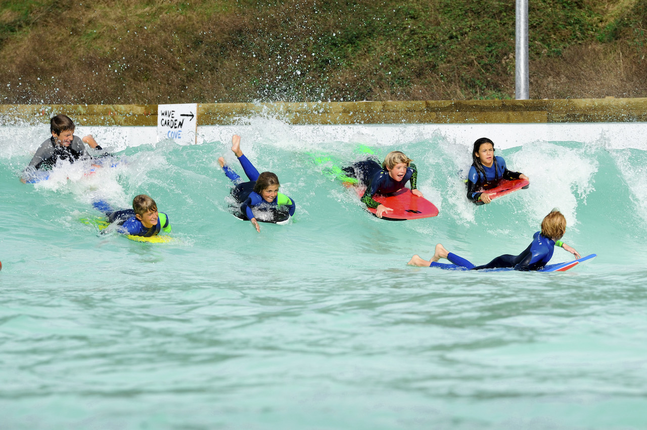 Kids at Wavegarden