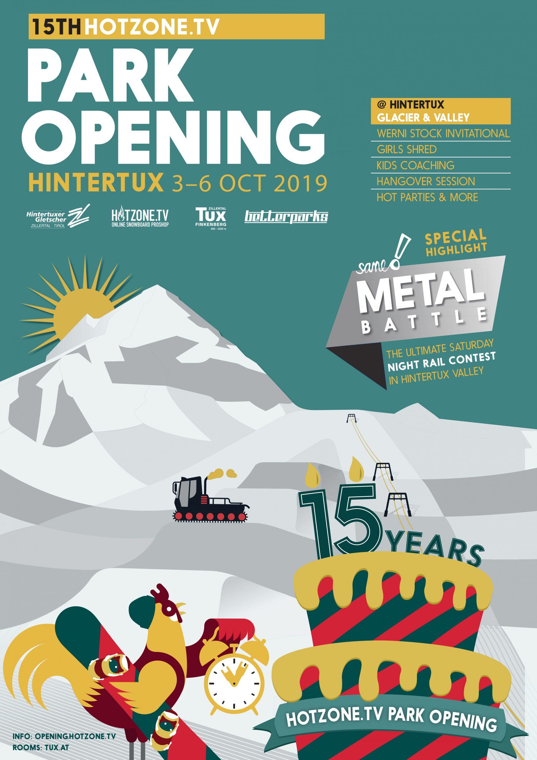 Hotzone tv Park Opening Betterpark Hintertux Austria Werni Stock Invitational Metal Battle 15th Anniversary