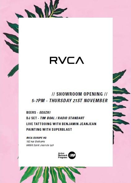 November RVCA Showroom opening