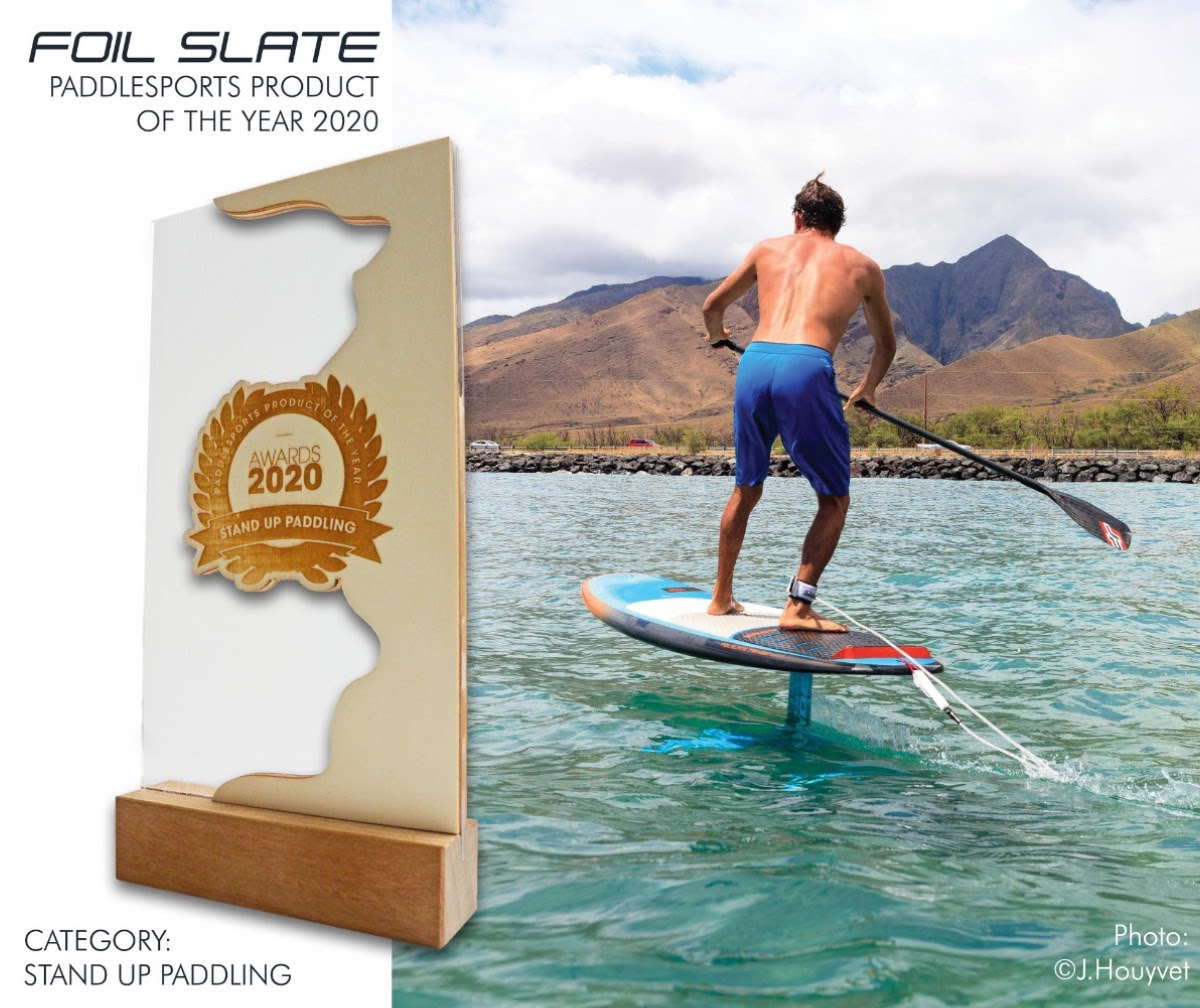 JP SUP Foil Slate PADDLEexpo expo Product Of The Year Award 2019 Welded Seams Stand Up Paddling