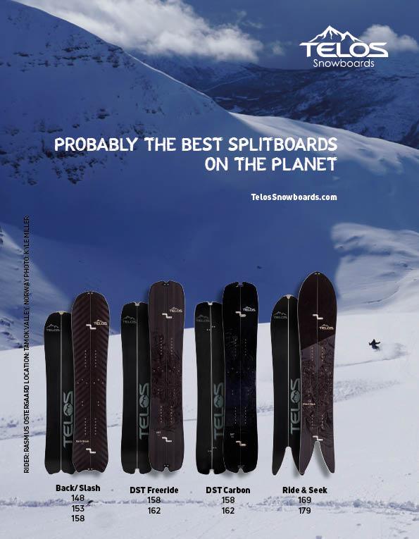 99 Telos splitboarding
