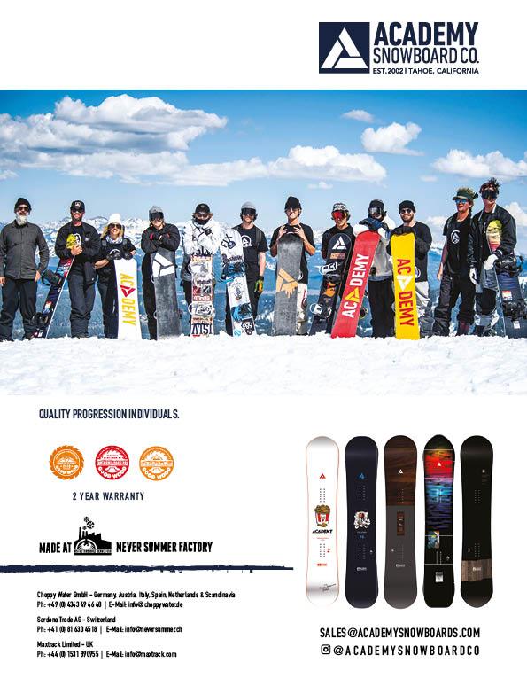 100 Academy snowboards