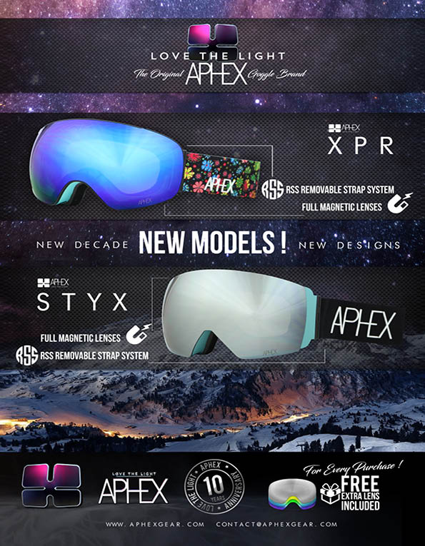 100 Aphex goggles