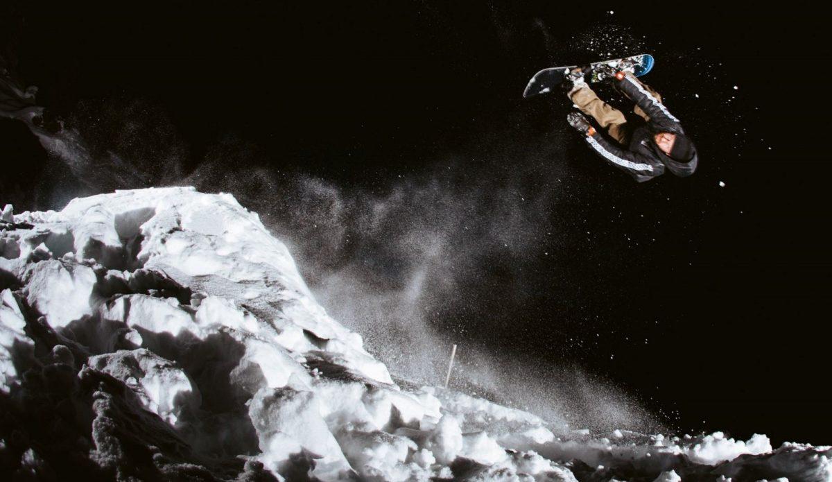 Benny Urban's DIY Snowboard park
