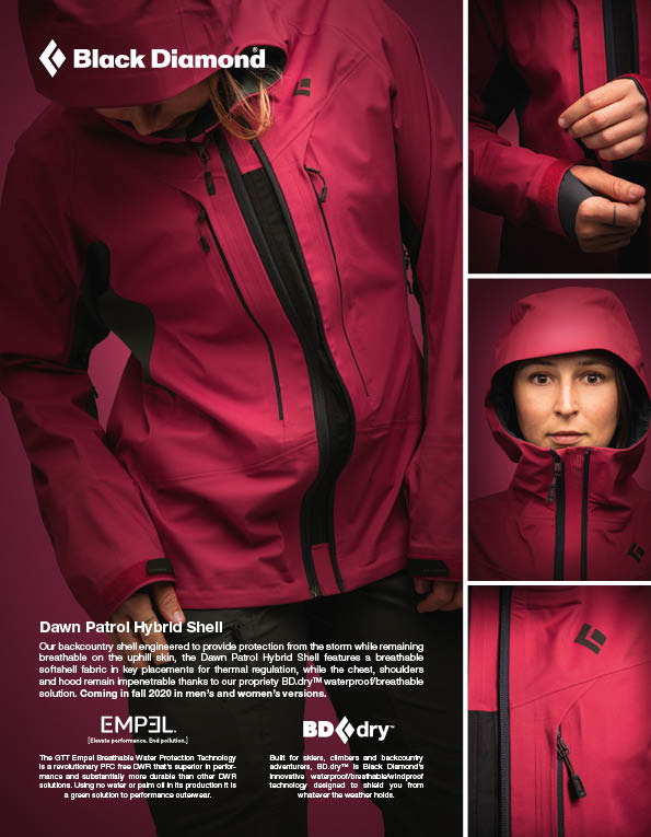 100 Black Diamond  mens and womens outerwear and snow safety