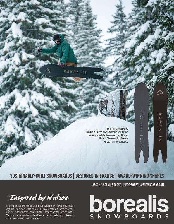 100 Borealis snowboards