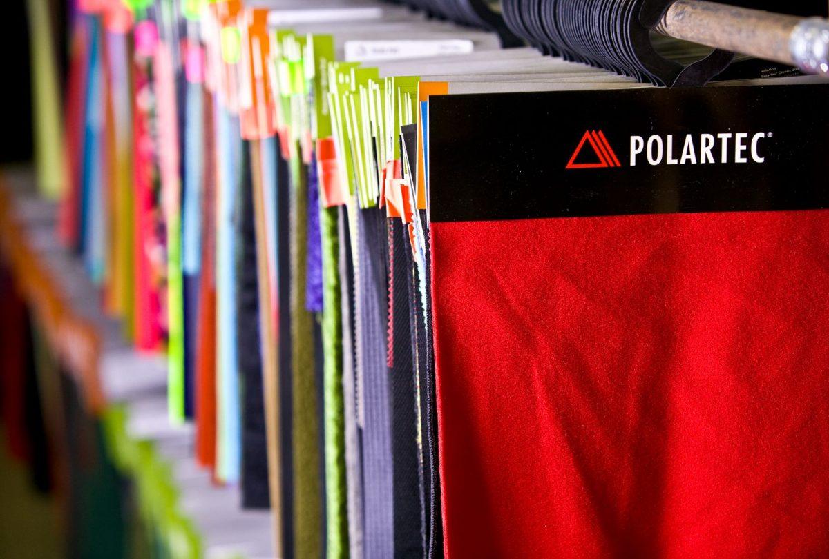 Polartec fabrics on a rail