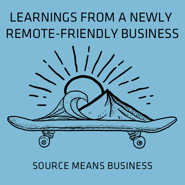Learnings from newly remote friendly biz