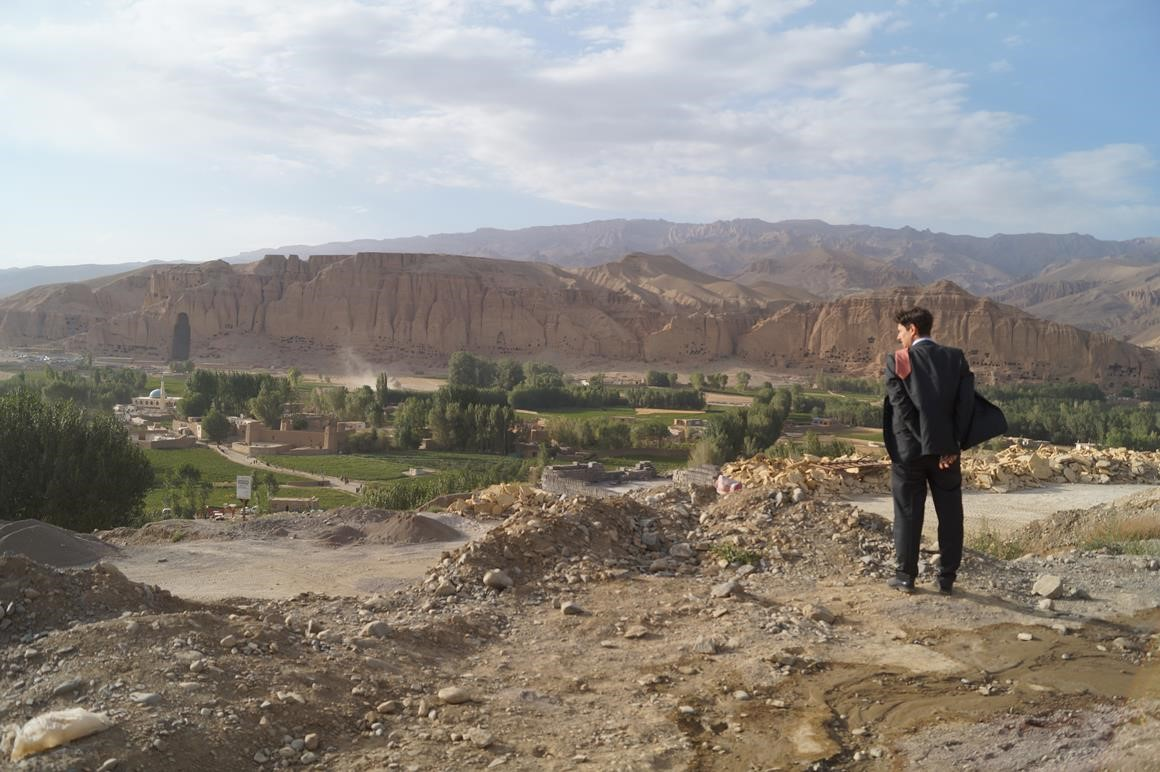 Skateistan Founder and Executive Director, Oliver Percovich, surveys the site in Bamyan