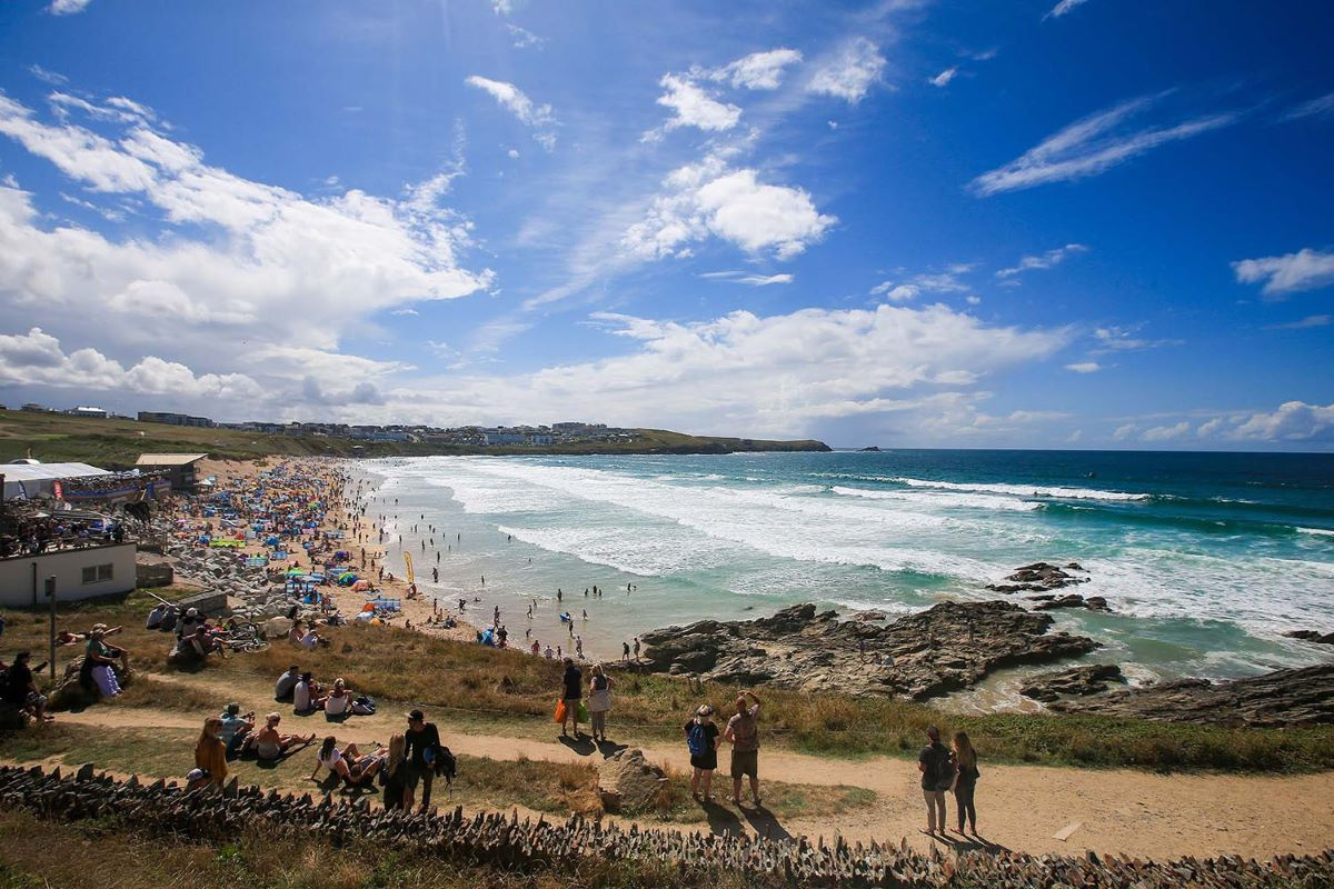 The iconic Fistral Beach should keep a little quieter than usual in the absence of Boardmasters. Photo- Masurel