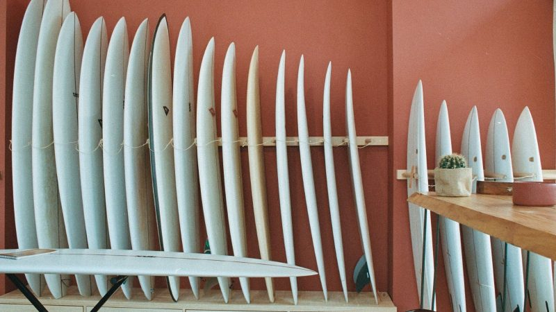 Boards at Colors of Surfing's concept shop
