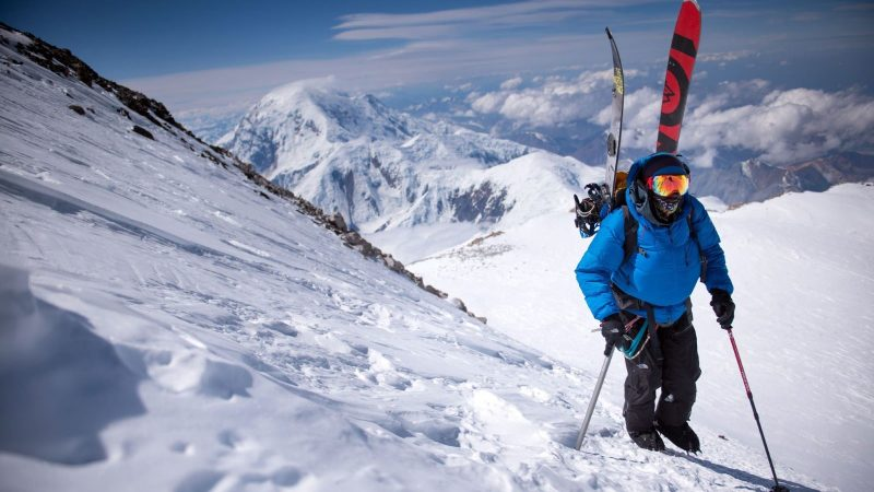 Ryan climbs the West Ridge of Denali on a 2013 Alaska expedition. Photo - Max Lowe
