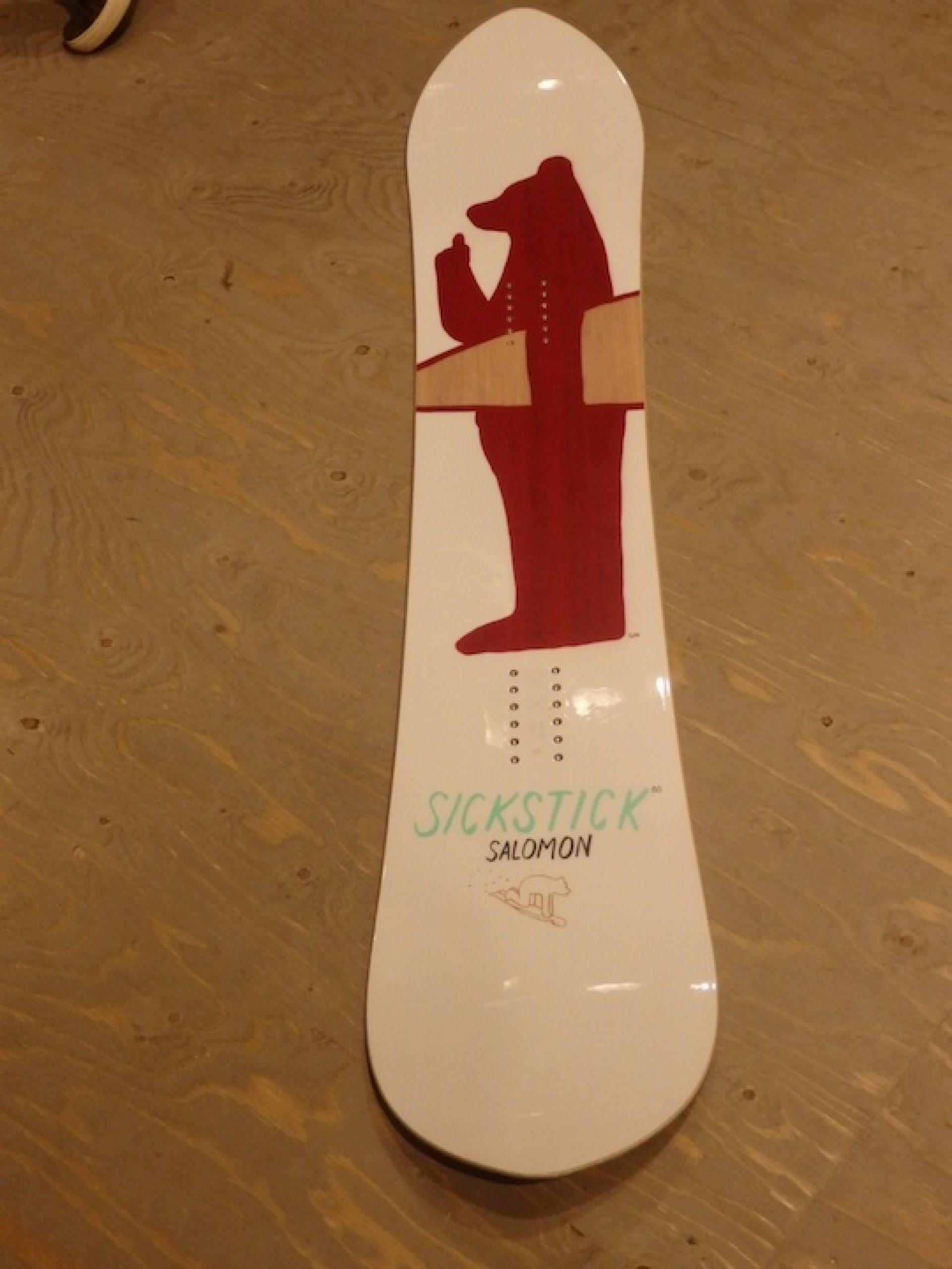 b3c787de8f2 Salomon s SIck Stick old style powder board with the bear graphic