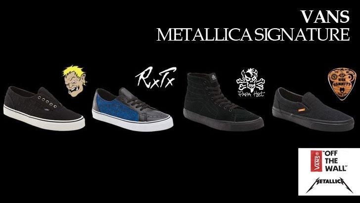 5fa50123eb Vans Metallica Signature Shoes - Boardsport SOURCE